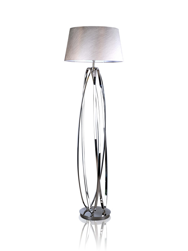 AKIRA FLOOR LAMP NICKEL FINISH