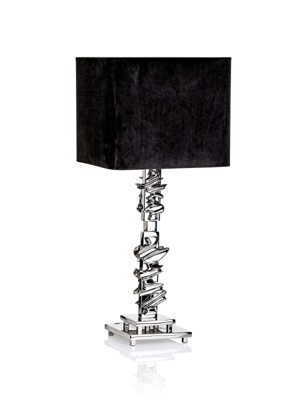 TABLE LAMP ABRUZZO NICKEL FINISH INCL SHADE