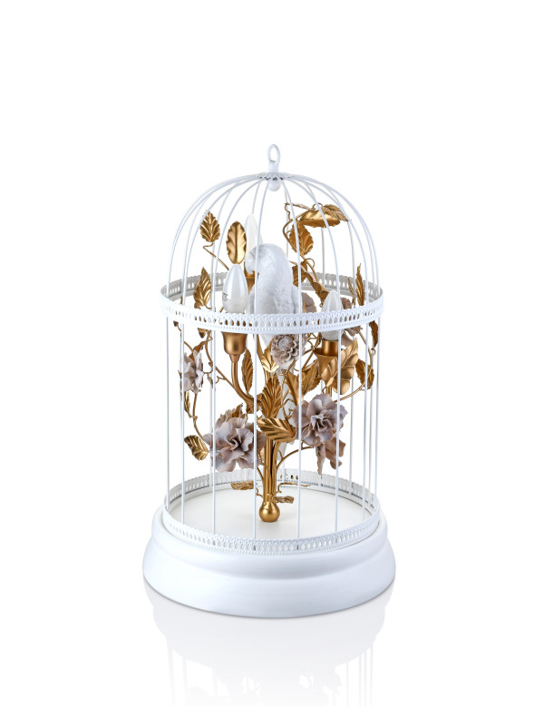 CAGE LAMP SMALL WHITE
