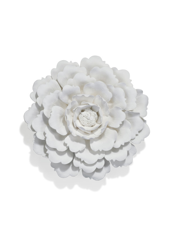 WHITE PORCELAIN WALL FLOWER