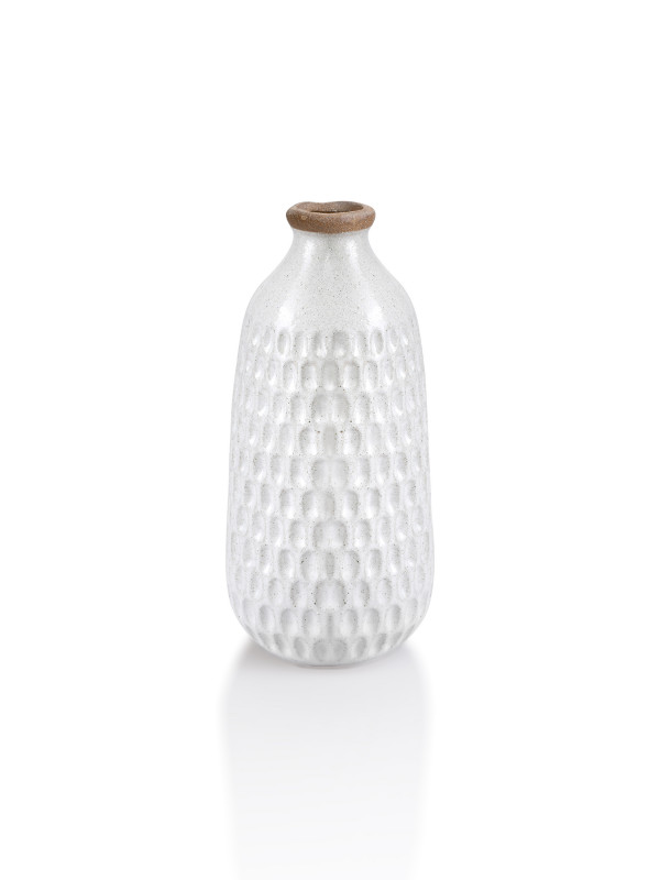 CERAMIC HAMMERED VASE