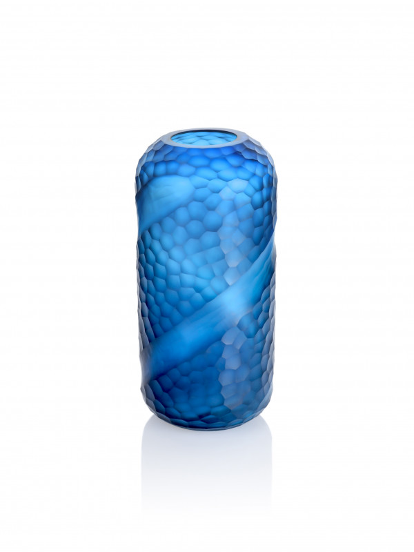 BLUE SWOOP VASE - MEDIUM