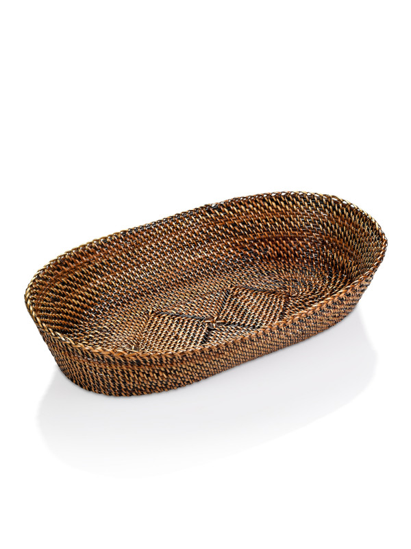 OVAL BREAD BASKET W/ EDGING, SMALL